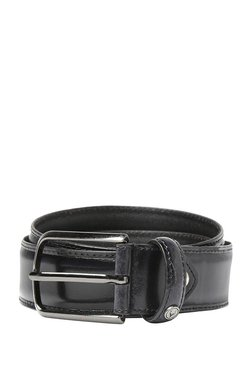 Allen Solly Black Solid Leather Narrow Belt - Mp000000003309810