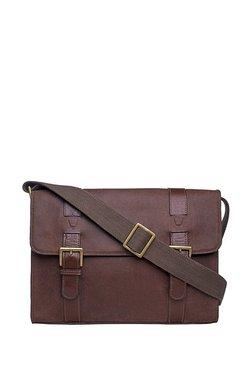 Hidesign Ee Garnet 02 Brown Solid Leather Messenger Bag