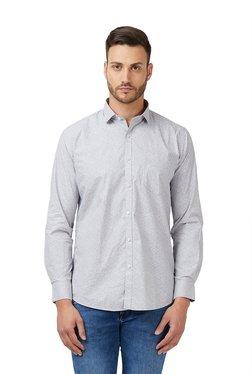 Easies By Killer Charcoal Printed Slim Fit Shirt