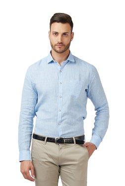 Easies Light Blue Cotton Full Sleeves Shirt