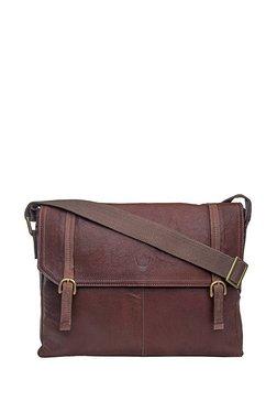 Hidesign Ee Fleet Street3 Brown Solid Leather Messenger Bag