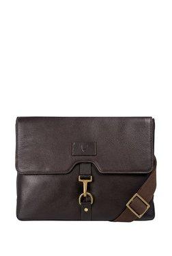 Hidesign Ee Jaguar 03 Brown Solid Leather Messenger Bag