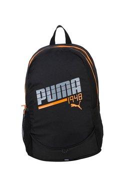 d388032363 Puma 1948 Graphic Ind Black   Orange Printed Laptop Backpack