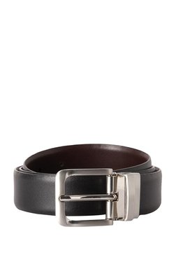 Allen Solly Black Solid Leather Narrow Belt - Mp000000003313370