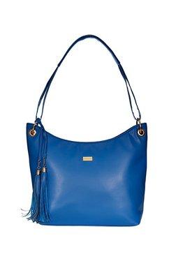 Satya Paul Blue Tassel Hobo Shoulder Bag