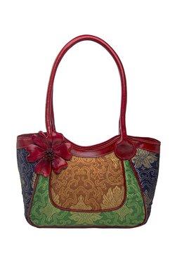 Holii Parvati 03 Green & Brown Textured Leather Shoulder Bag