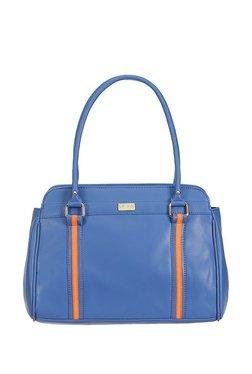 Satya Paul Blue & Orange Paneled Shoulder Bag