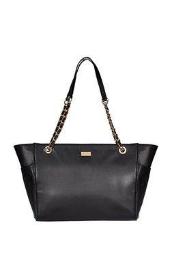 Satya Paul Black Solid Shoulder Bag