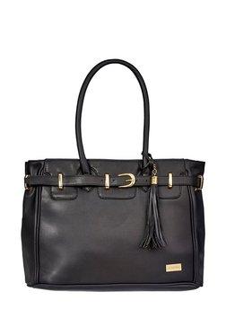 Satya Paul Black Tassel Shoulder Bag