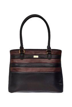 Satya Paul Black & Brown Paneled Shoulder Bag