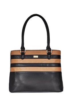 Satya Paul Black & Tan Paneled Shoulder Bag