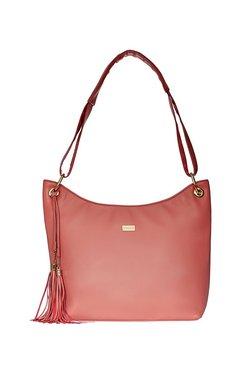 Satya Paul Pink Tassel Hobo Shoulder Bag