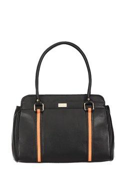 Satya Paul Black & Orange Paneled Shoulder Bag