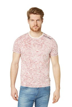 Tom Tailor Red Short Sleeves Regular Fit Striped T-shirt