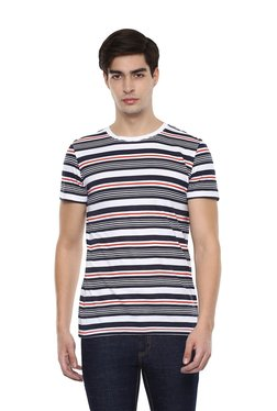 Tom Tailor Navy & White Regular Fit Striped T-shirt
