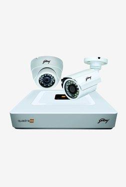 Godrej 720P See Thru 4 Channel 1 Dome 1 Bullet CCTV Kit (White)
