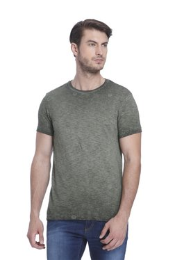 Jack & Jones Grey Half Sleeves Slim Fit T-Shirt