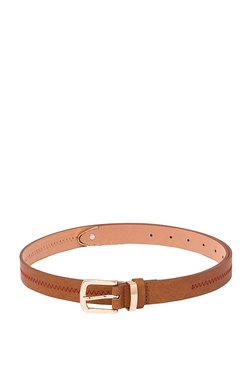 8858fa40fe20 Globus Tan Stitched Narrow Belt