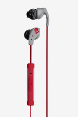 Skullcandy S2CDY-K605 Bluetooth Headset with Mic (Grey/Red)