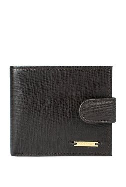 Hidesign Dark Brown Solid Rfid Bi-fold Leather Wallet