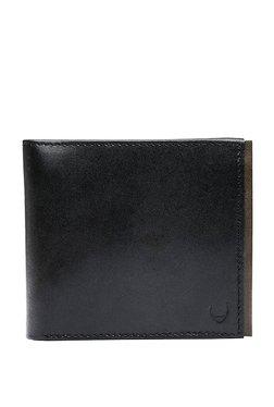 Hidesign Black Solid Rfid Bi-fold Leather Wallet