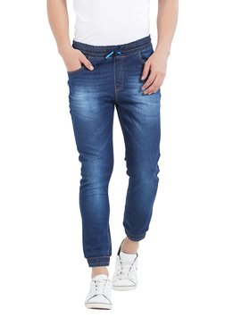 Deezeno Blue Lightly Washed Mid Rise Jogger Jeans