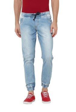 Deezeno Light Blue Mid Rise Regular Fit Jogger Jeans