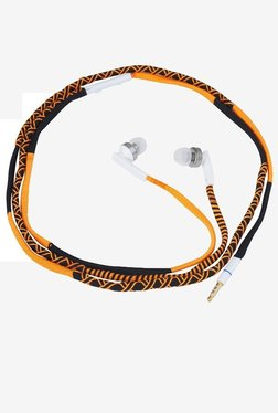 Parallel Universe In The Ear Ear Headphones With Mic (Orange)
