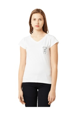 Miss Chase White Embroidered Cotton T-Shirt