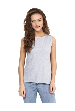 Miss Chase Grey Textured Cotton Top - Mp000000003339735