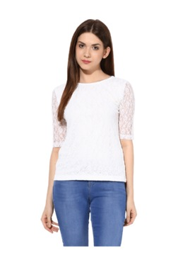 Miss Chase White Lace Lace Top