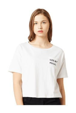 Miss Chase White Embroidered Cotton T-Shirt - Mp000000003341930