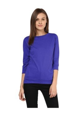 Miss Chase Purple Cotton Top
