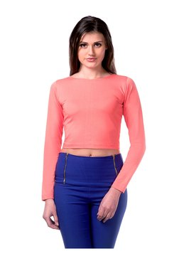 Miss Chase Coral Textured Cotton Top