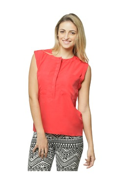 Miss Chase Coral Crepe Shirt