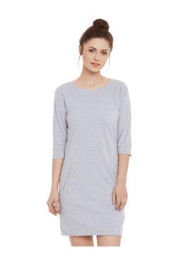 Miss Chase Grey Textured Mini Dress