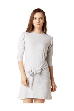 Miss Chase Light Grey Textured Mini Dress