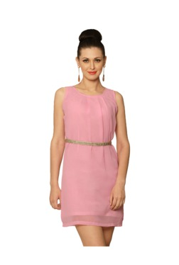 Miss Chase Pink Relaxed Fit Above Knee Dress - Mp000000003345765