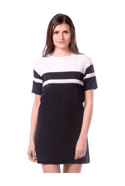 Miss Chase Black & White Striped Mini Dress