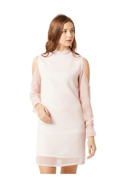 Miss Chase Light Pink Relaxed Fit Mini Dress