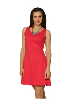 Miss Chase Pink Relaxed Fit Above Knee Dress