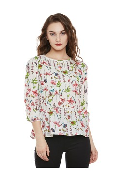 Miss Chase White Printed Top