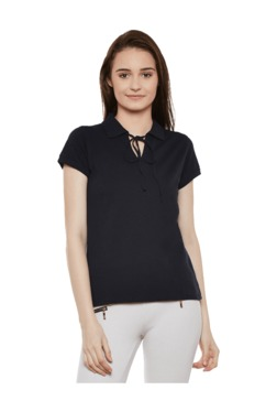 Miss Chase Navy Relaxed Fit T-Shirt