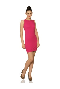 Miss Chase Pink Slim Fit Above Knee Dress