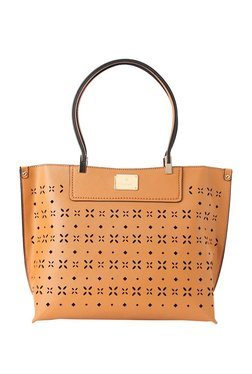 Van Heusen Tan Cut Work Shoulder Bag