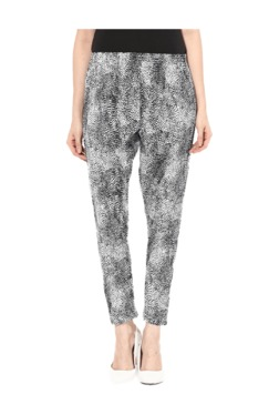 Miss Chase White & Black Relaxed Fit Pants