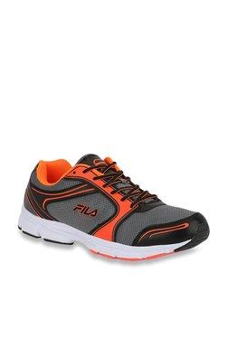 Fila Harvey Grey   Orange Running Shoes 9e34fd9652
