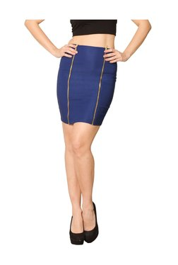 Miss Chase Cobalt Blue Above Knee Skirt