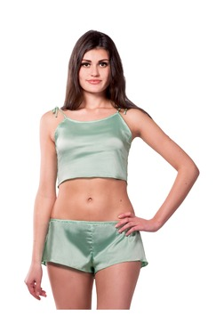 Miss Chase Mint Satin Shorts Set