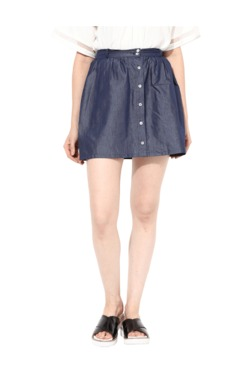 Miss Chase Navy Above Knee Skirt